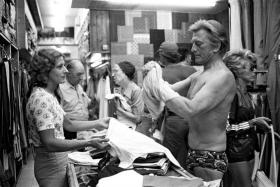 Kirk Douglas sur le marché de Saint Tropez - Photo Daniel Angeli