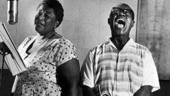Ella Fitzgerald et Louis Armstrong en 1956