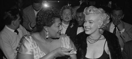 Ella Fitzgerald et Marilyn Monroe au Mocambo de Los Angeles en 1955