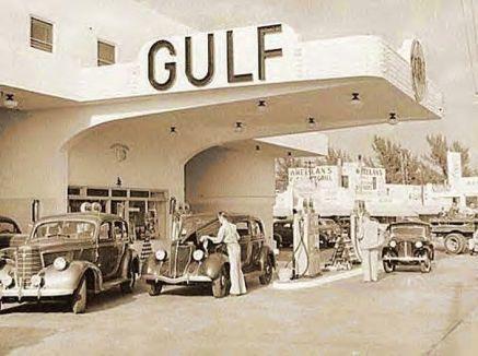 Sation Gulf à Miami en 1939