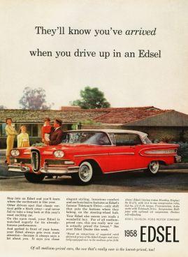 Publicité Edsel de 1958