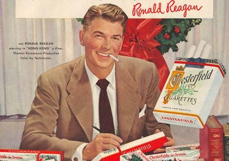 Publicité Chesterfield avec Ronald Reagan - 1948