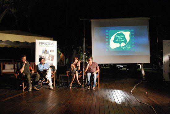 Vincenzo Esposito, Diego Del Pozzo, Rosaria De Cicco, Sandro Dionisio al Procida Film Festival 2013