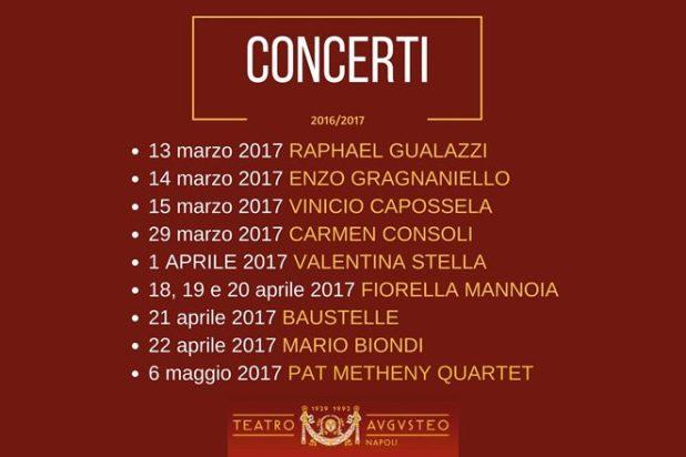 Concerti Teatro Augusteo 2017
