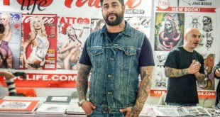 Costantino Sasso al Tattoo Fest. Foto Ufficio Stampa.