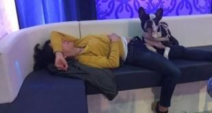 Nathalie Guetta ed Achille in totale relax. Foto fornita dall'artista.