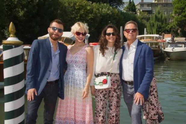 Gaia De Laurentiis, Pino Calabrese, Eleonora Ivone e Angelo Longoni a Venezia per Apri le labbra. Foto da Ufficio Stampa
