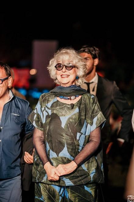 Loretta Goggi alle Giornate del Cinema Lucano. Foto da pagina Facebook
