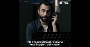 Marco Mengoni per Klaus. Frame dal video social di presentazione