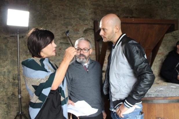 Cristina Donadio, Gianni Ferreri e Fabio Massa sul set di Mai per Sempre. Foto da Facebook