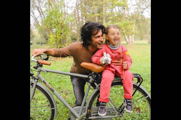 Kledi Kadiu con la figlia Lea. Foto da Instagram