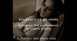 Chiara Civello per Bugari Live at Home