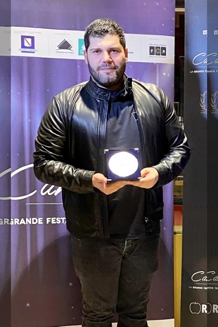 Salvatore Esposito riceve il Premio Cinema Campania 2020