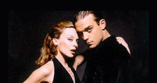 Kylie Minogue e Robbie Williams. Foto dal Web
