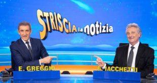 Ezio Greggio ed Enzo Iacchetti a Striscia La Notizia