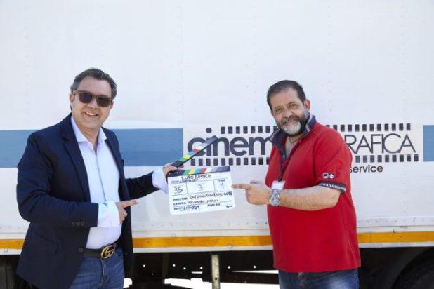 Antonio Chiaramonte e Tony Gangitano (produttore e regista di Lupo Bianco)