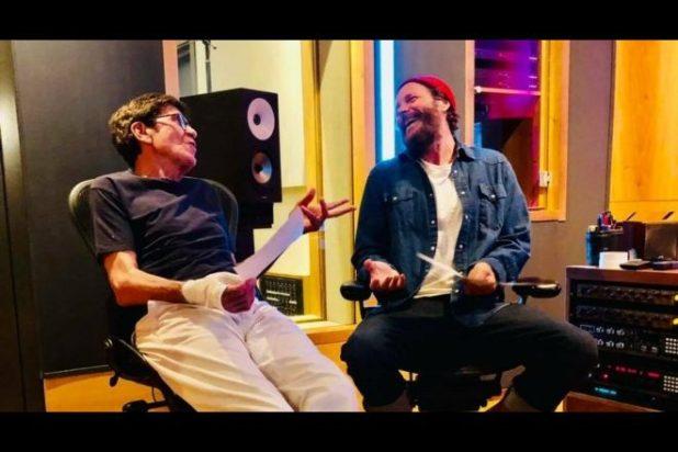 Gianni Morandi e Jovanotti per L'allegria. Foto da Instagram