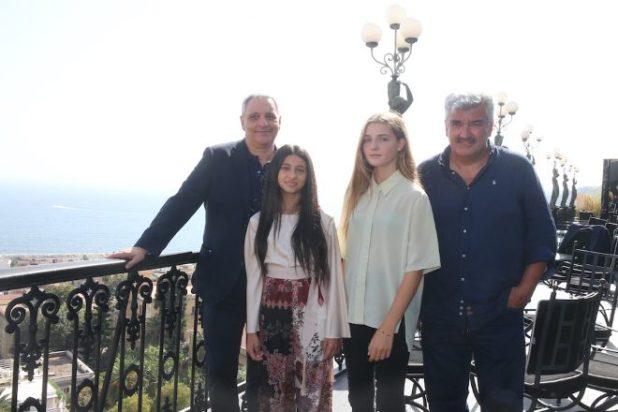 Maurizio De Giovanni, Ludovica Nasti, Elisa Del Genio ed Antonio Milo per i Nastri d'Argento