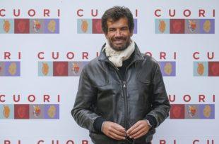 Marco Bonini durante la presentazione della serie tv Cuori, Roma 12 ottobre 2021. Foto ANSA di Fabio Frustaci