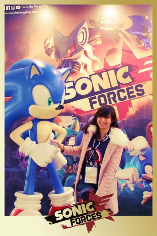 La Geek En Rose Sonic Forces à la Paris Games Week 2017