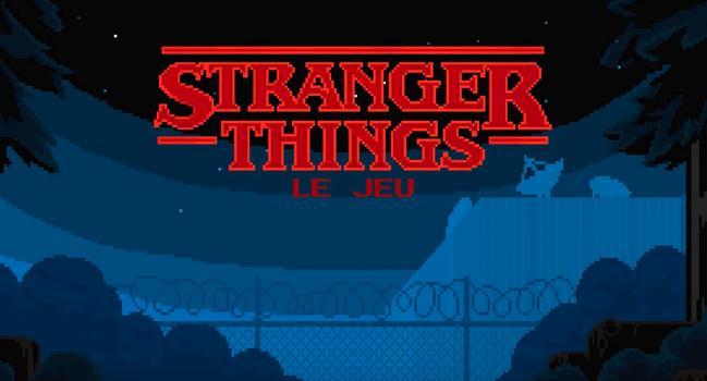 Stranger Things Netflix jeu mobile iPhone intro