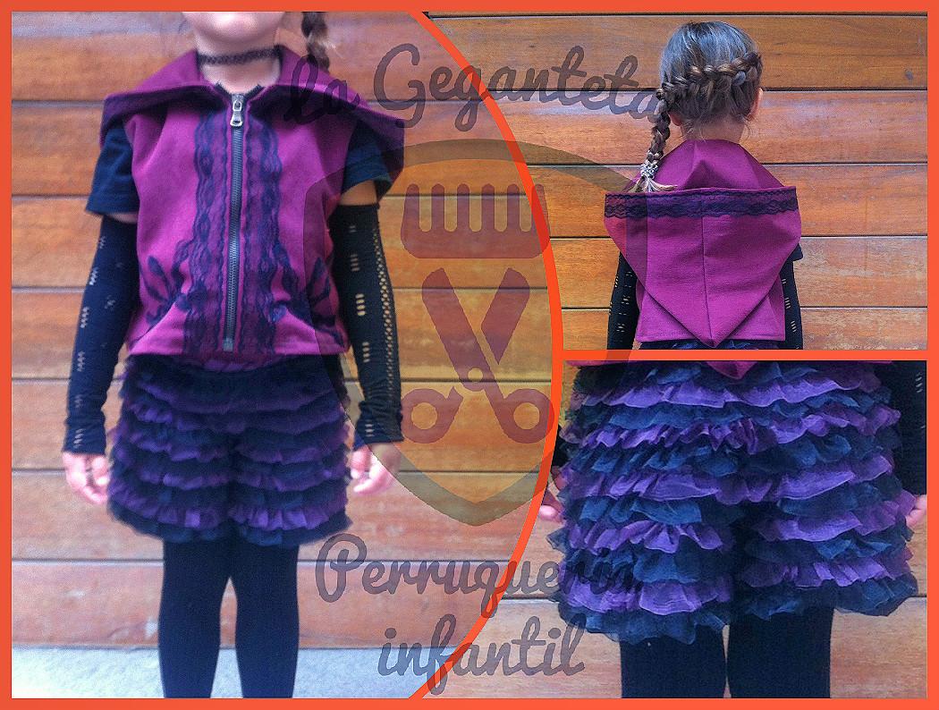 disfraz lila arkandu peluqueria infantil la geganteta