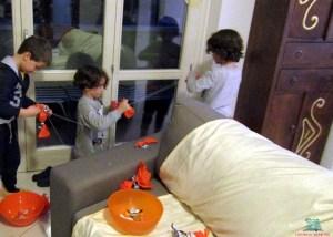 Festoni di caramelle al Tiramisù Party de L'Agenda di mamma Bea