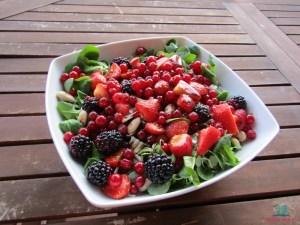 frutti golosi e inconsueti per l'insalata di soncino preparata da L'Agenda di mamma Bea