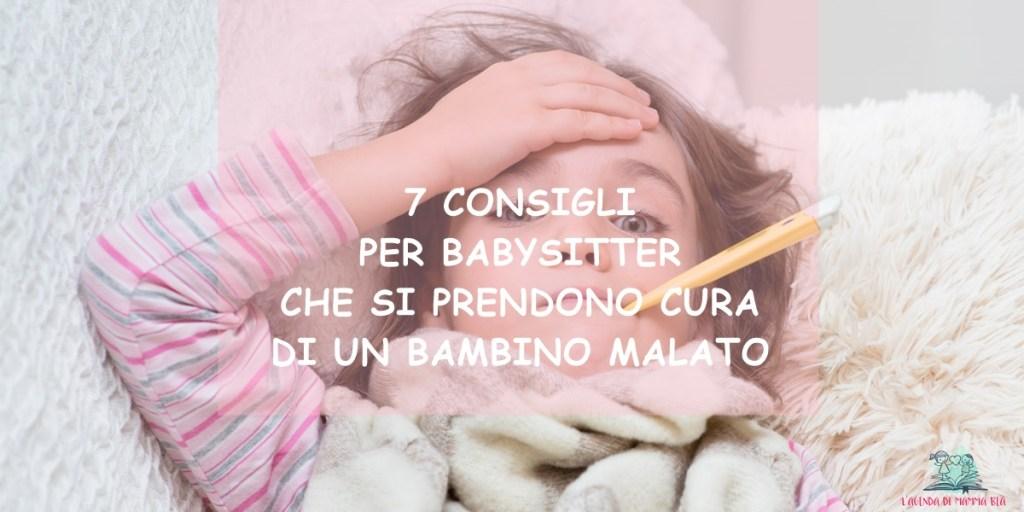 come prendersi cura di un bambino quando è malato secondo L'Agenda di mamma Bea