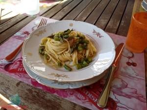 poca spesa molta resa con gli spaghettini preparati da L'Agenda di mamma Bea