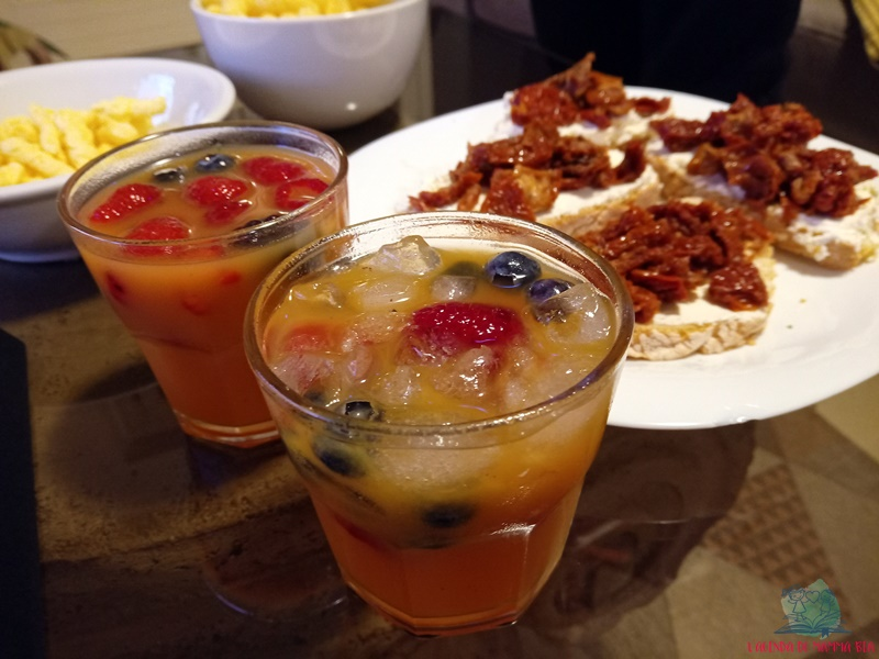 frutta al vino con il cocktail de L'Agenda di mamma Bea