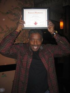 Ernie Hudson is inducted as our first Honorary Member.