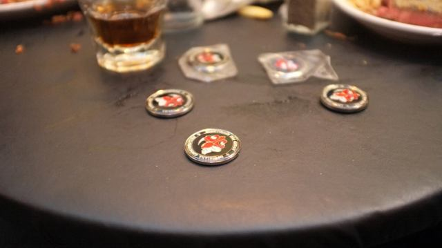 LAGB Challenge Coins like to assemble on special occasions.