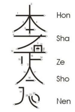 terzo simbolo reiki - hon sha ze sho nen