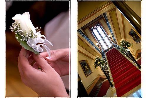 Occhiello di rose per abito sposo