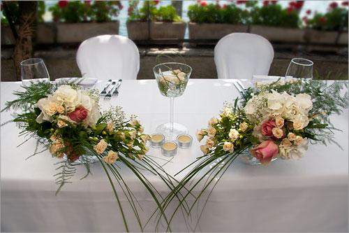 centrotavola addobbi floreali tavolo sposi