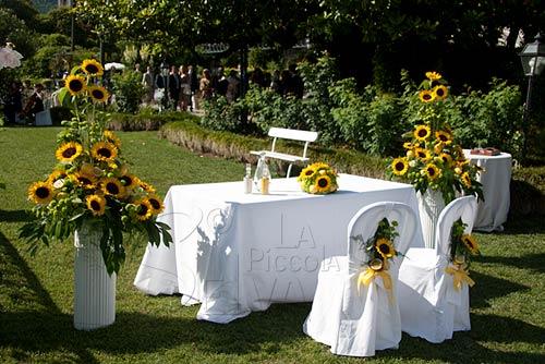 Girasoli Matrimonio : Matrimonio a tema giallo con girasoli e limoni