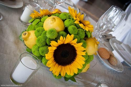 Addobbi Matrimonio Girasoli : Matrimonio a tema giallo con girasoli e limoni