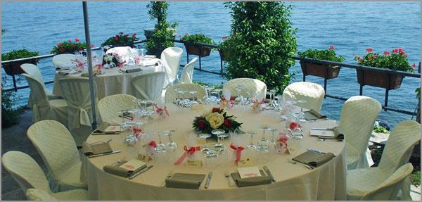 ricevimento matrimonio Hotel ristorante Verbano Isola Pescatori