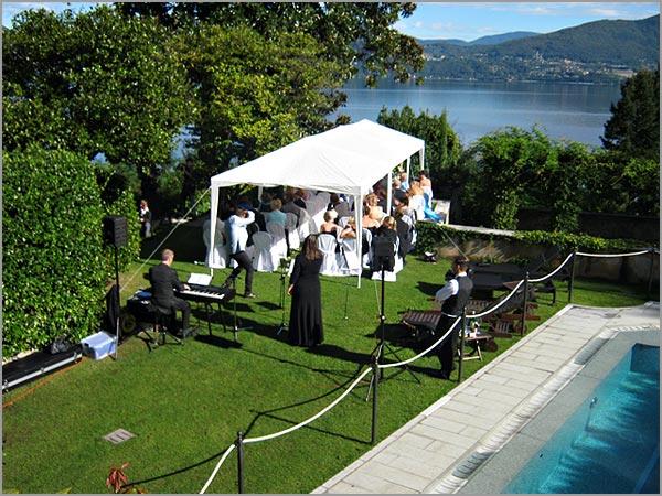 matrimonio all'americana Villa Margherita lago Maggiore