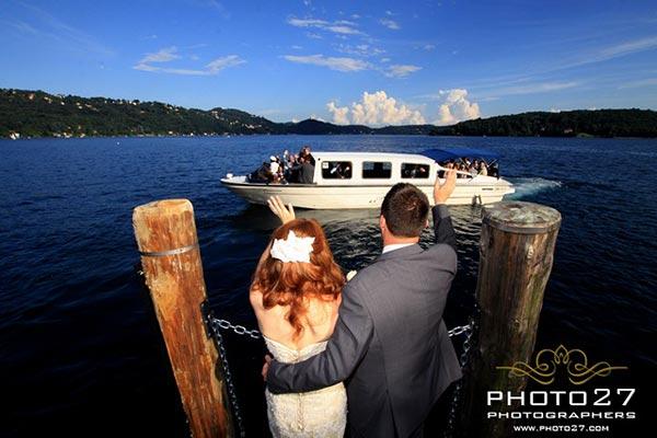 servizio motoscafi matrimonio Lago d'Orta