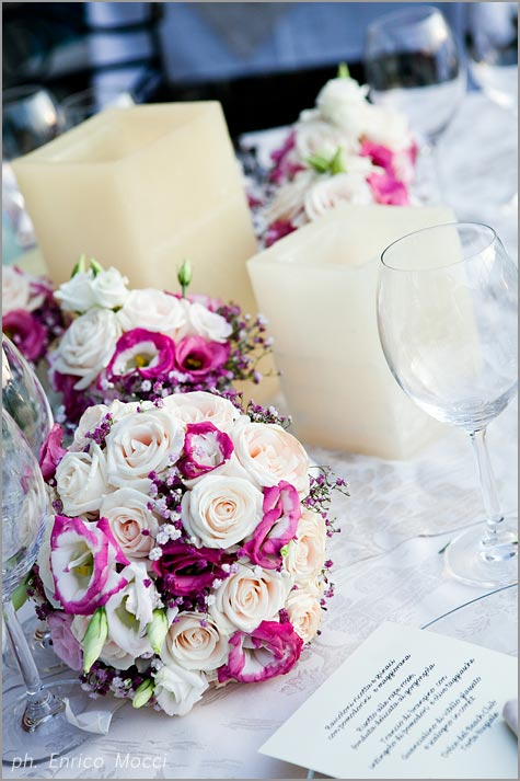 fiorista matrimonio ristorante Orta Beach Club