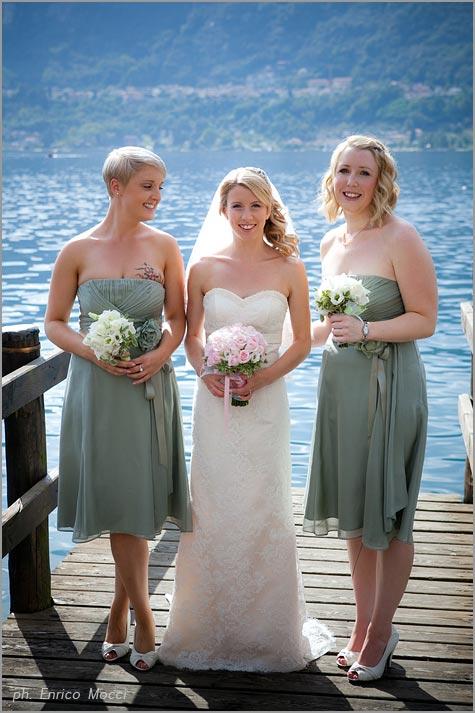 abito verde damigelle sposa