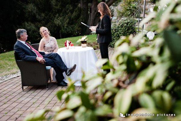 cerimonia anniversario di matrimonio in villa di Orta