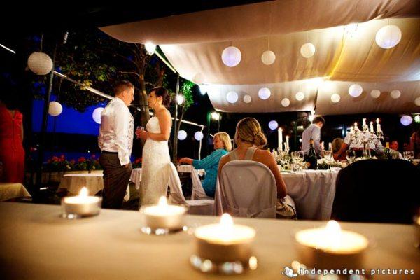 matrimonio a lume di candela al ristorante San Giulio