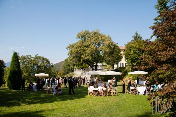 aperitivo nel parco a Villa Pestalozza