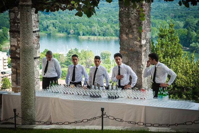 Catering ricevimento di matrimonio Rocca di Angera © foto Riccardo Bestetti