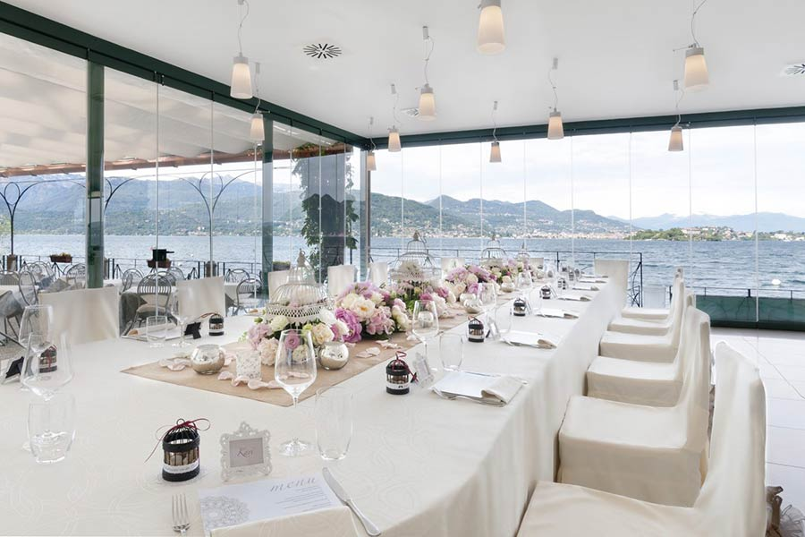Matrimonio Isola dei Pescatori ristorante Belvedere