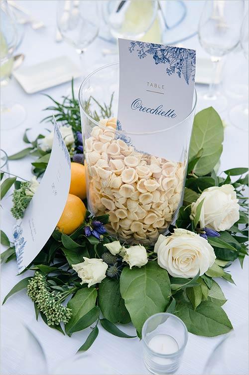 Matrimonio a tema pasta italiana