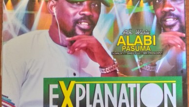 Alh. Wasiu Alabi Pasuma - Explanation